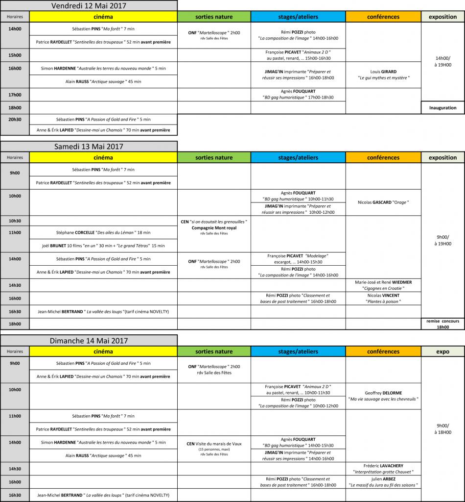 Heure programme Festival 2017-09