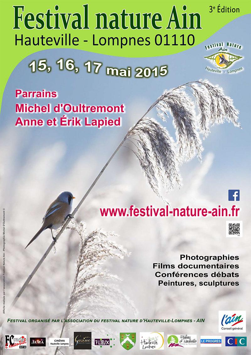 Affiche du festival nature Ain 2015