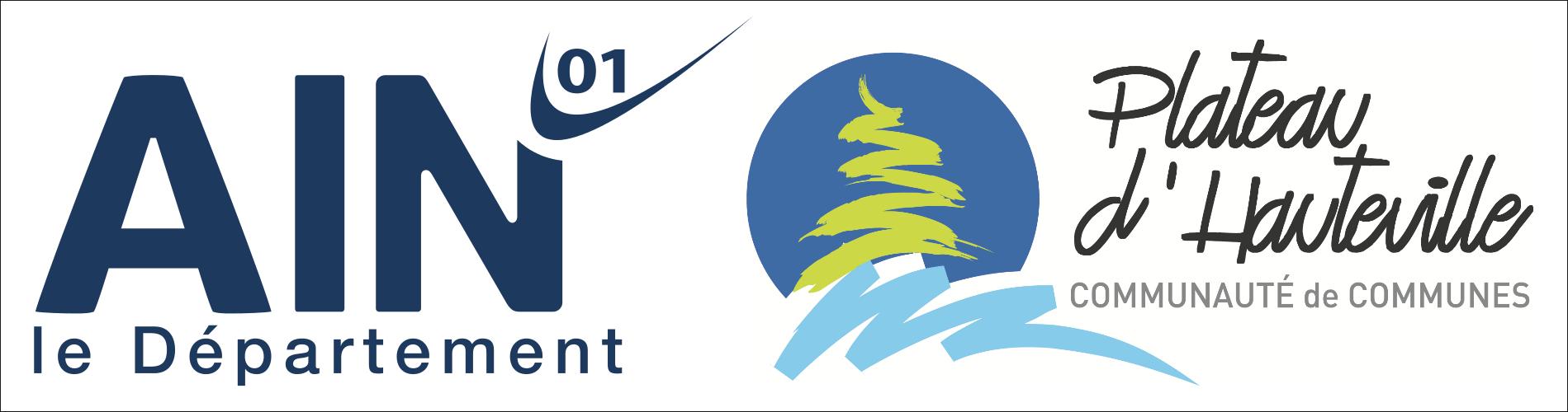 Logos département de l'Ain et comcom Hauteville-Lompnes