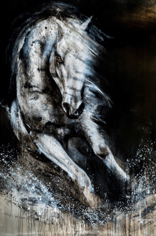 SANDROT cheval-peinture-sur-toile