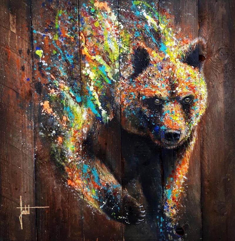 SANDROT Ours-peinture-sur-bois 3